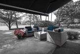 Villa van vergaderen voor tanzania in het gooi zitje in de tuin